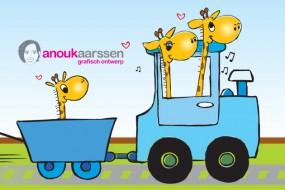 Illustraties geboortekaartje – giraffen