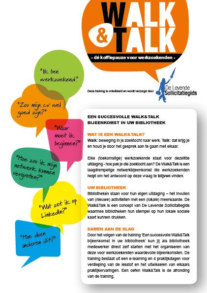 Sollicitatiegids flyer Walk&Talk_voorkant