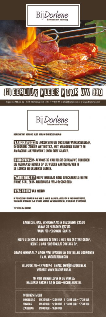 BBQ folder Bij Doriene