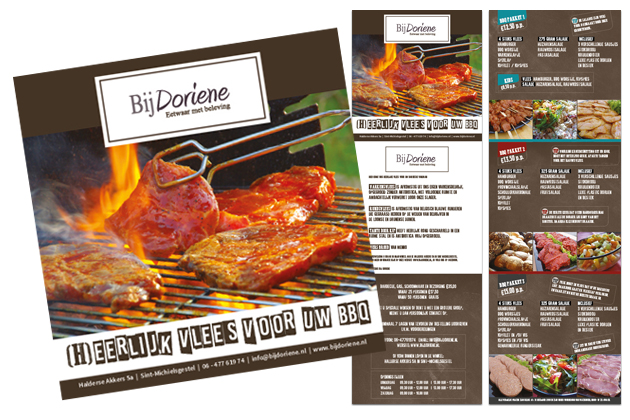 Bij Doriene BBQ folder